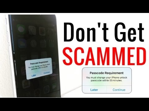 Change your Passcode Message - Don't get scammed