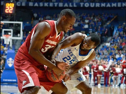 #NCAAB | 2017 SEC Championship Final #3 Arkansas vs #1 Kentucky [3/12/2017]