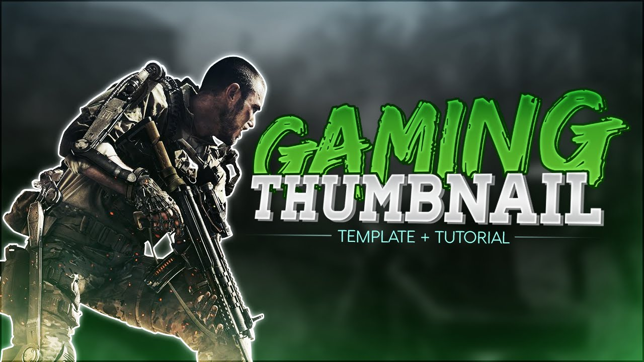 psd  how to make a simple gaming thumbnail   free