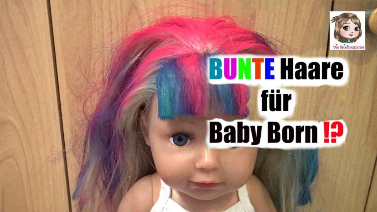 bunte haare f r baby born sister haare f rben mit l or al colorista zapf youtube. Black Bedroom Furniture Sets. Home Design Ideas