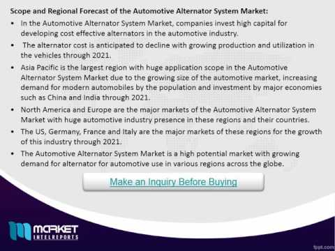 Global Automotive Alternator System Market: Germany is the leading market with high use by 2021
