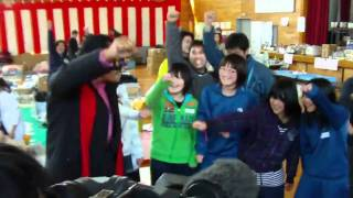 アントニオ猪木が東日本大震災の被災地を訪問。 いわき市、江名小学校で...