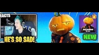 NINJA REACTS TO *NEW* Jack Gourdon Halloween Skin (Pumpkin Head) Fortnite Funny