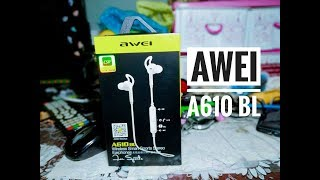 AWEI A610bl Wireless smartphone Sports StereoHeadphone.