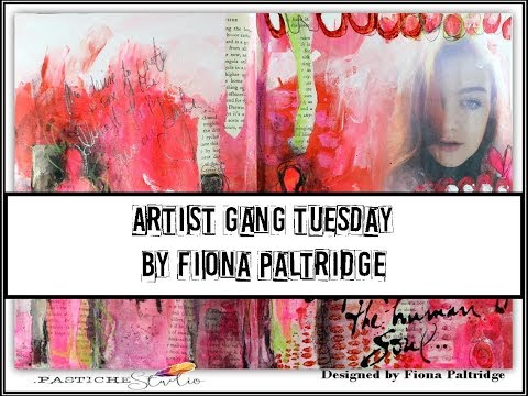 Human Soul Art Journal page for Donna Downey Artist Gang