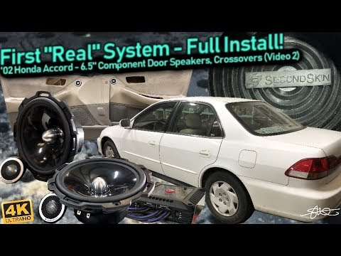 """First """"Real"""" Sound System - Full Install! 6.5"""" Component Door Speakers, Wiring, Crossovers (Video 2)"""