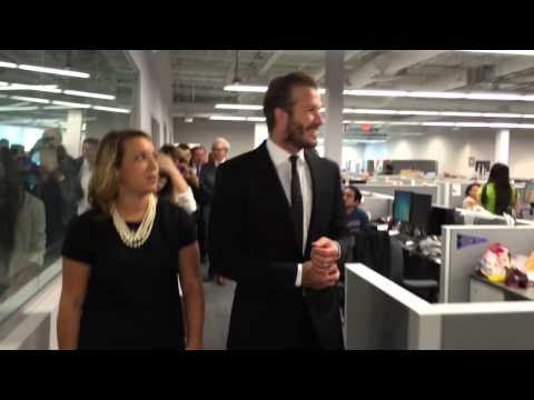 David Beckham talks with the Miami Herald Editorial Board