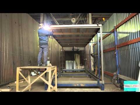 видео: Производство блок-контейнера