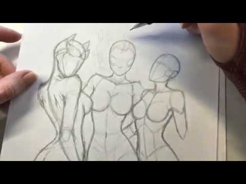 Drawing the Gotham City Sirens: Catwoman, Poison Ivy, and Harley Quinn - Part 1