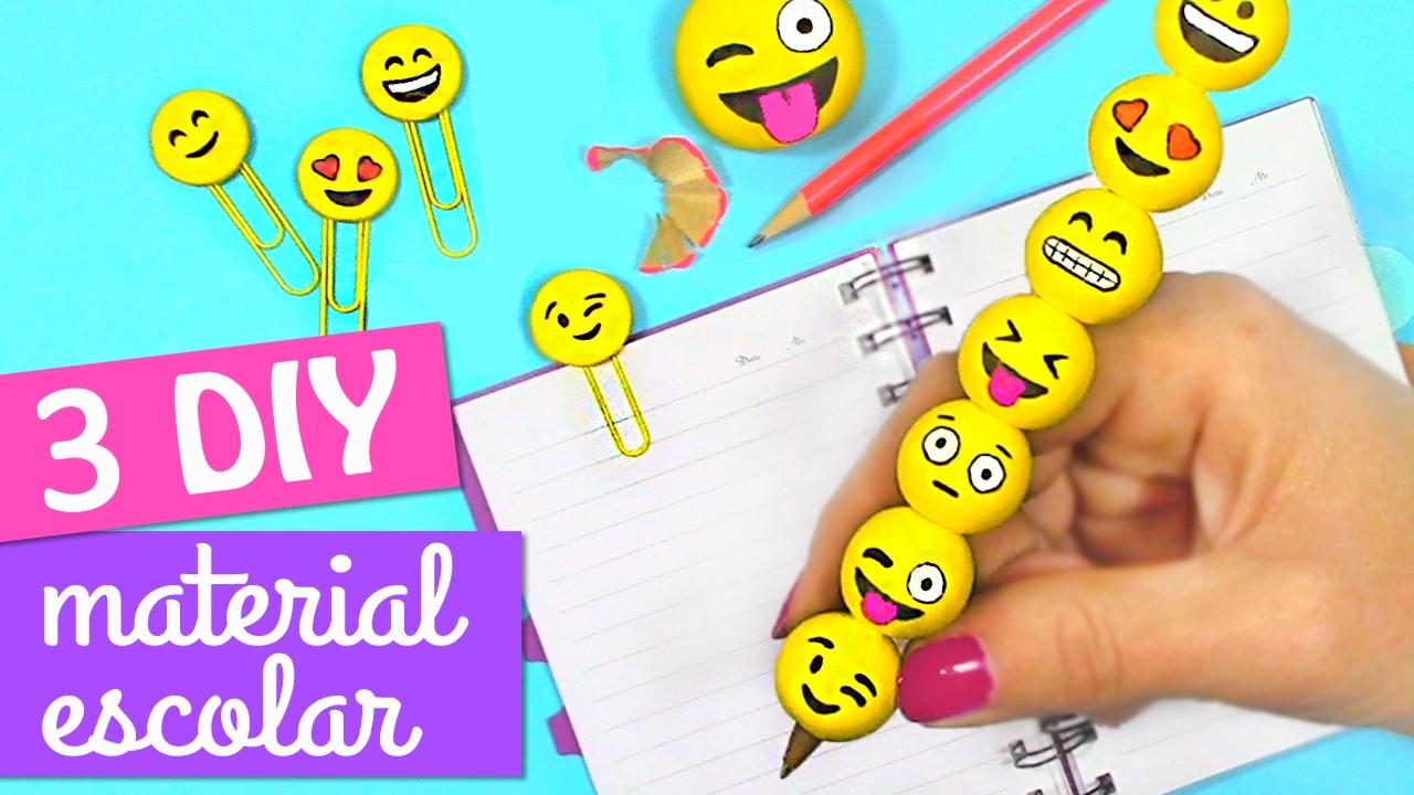 Manualidades faciles 3 diy para la escuela de emojis diy - Manualidades faciles reciclaje ...