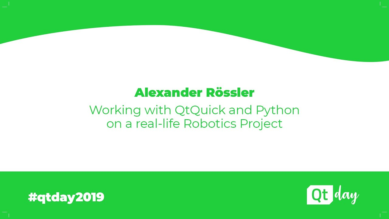 Working with QtQuick and Python on a real-life Robotics