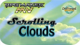 Cloud Scrolling Clouds - RPG Maker MV Tutorial - Galv Plugin - Photoshop - RPGMMV - RMMV Tutorial ✓