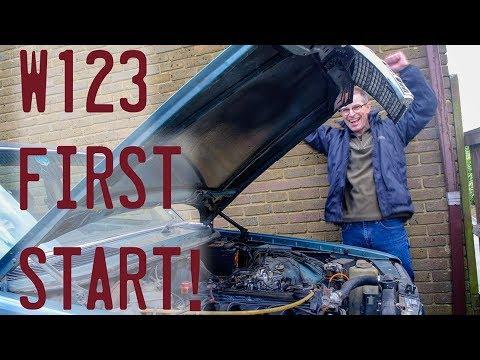 Barn find W123 First Start!