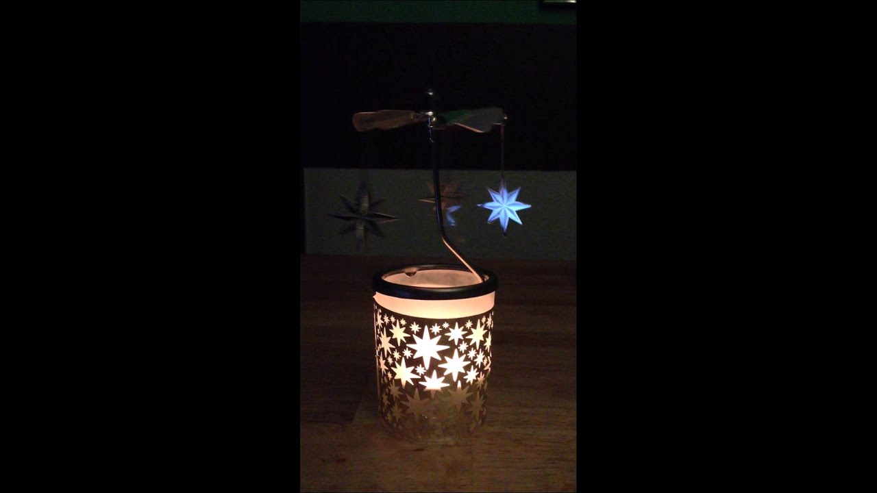 Brahms Teelicht Karussell Windlicht Sterne Weihnacht Kerze