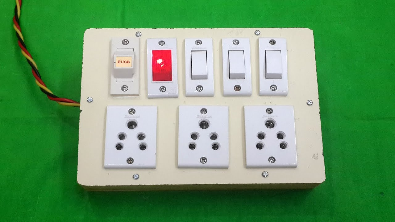 how to make an electric extension board with fuse