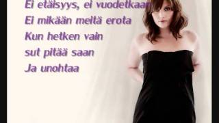 Laura Närhi -  Hetken tie on kevyt (lyrics)