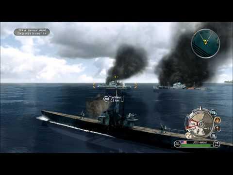 "Battlestations Pacific Allies Walkthrough 11 ""Sub on Patrol"" Gold medal and Unit unlock FHD 1080p"