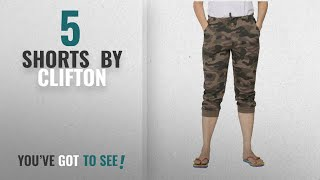 Top 10 Clifton Shorts 2018 Clifton Womens Army Comfort Capri - Walnut