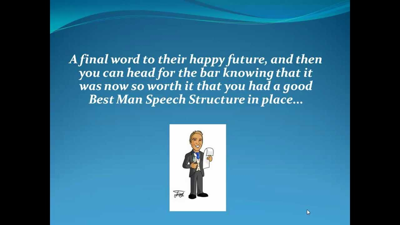 Best Man Speech Structure Youtube