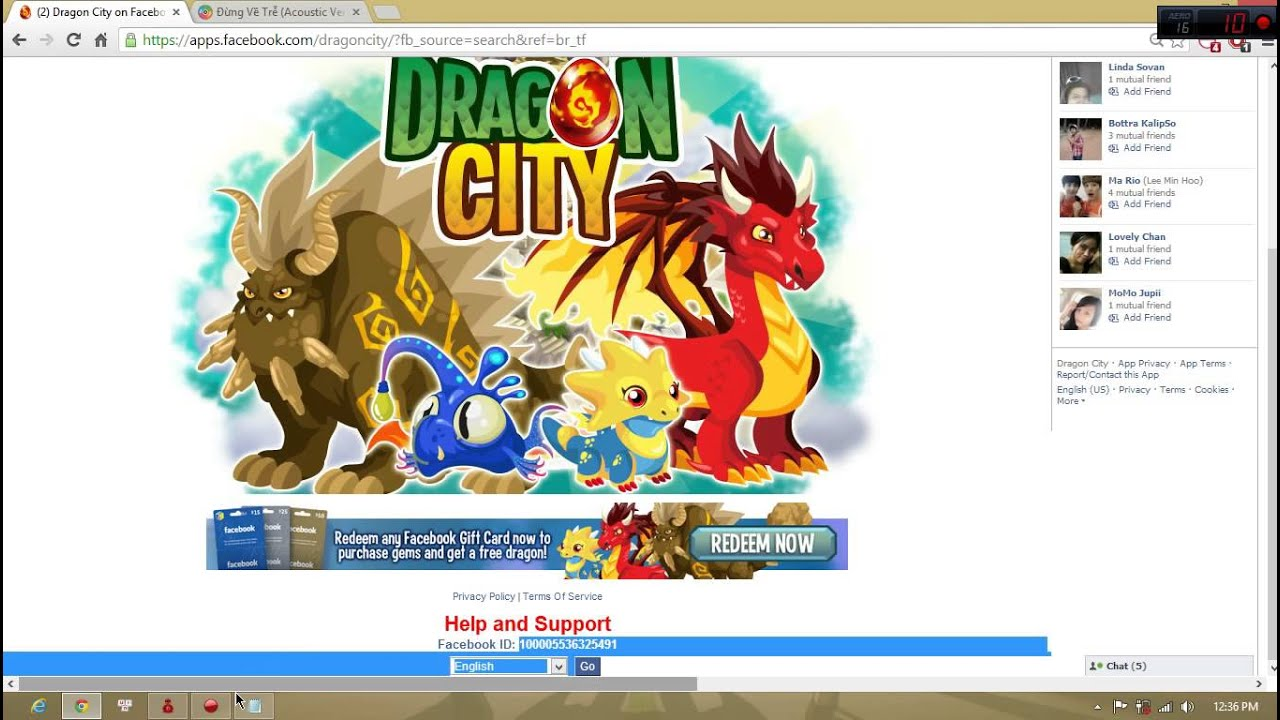 How Get Facebook ID and SessionID for hacking Dragon city