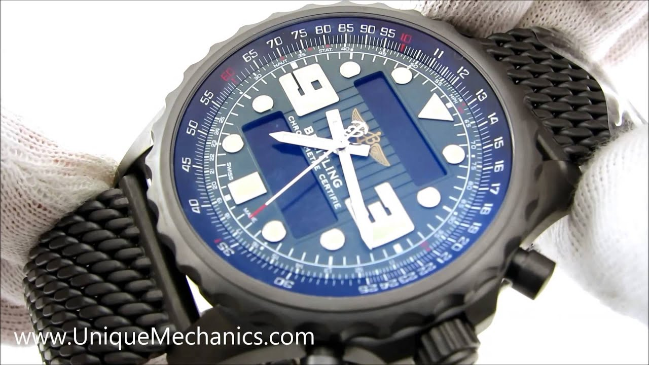 breitling chronospace digital analog swiss made