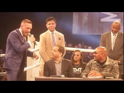LOL!!! CONOR McGREGOR LETS RIP AT SHOWTIME EXECUTIVE STEPHEN ESPINOSA, FLOYD MAYWEATHER & ELLERBE