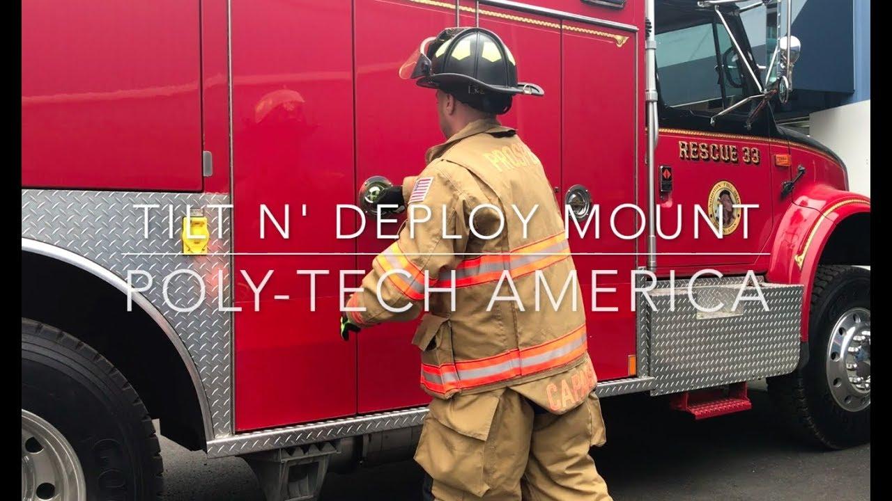 Tilt N' Deploy Rescue Tool Mount