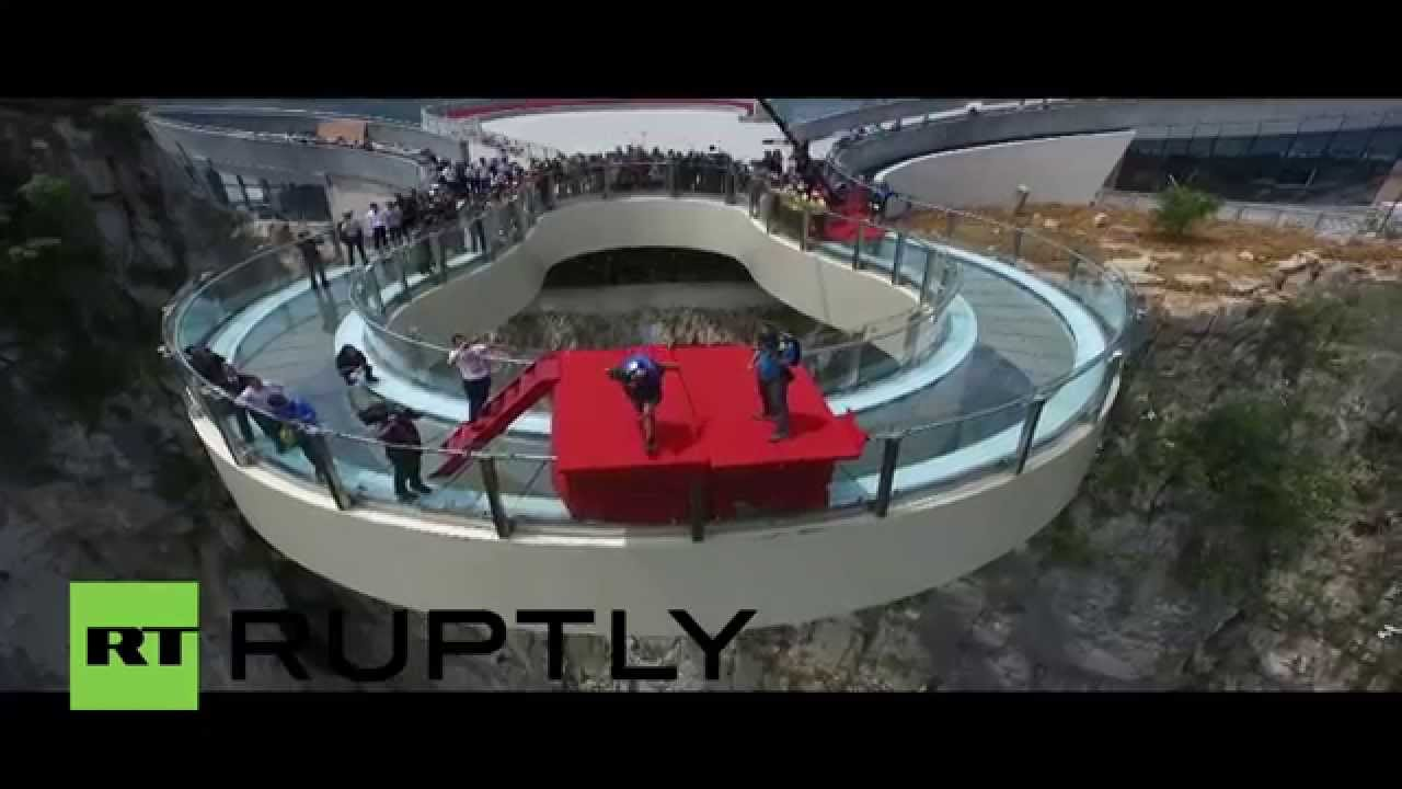 China Are You Brave Enough Step Onto Worlds LONGEST Skywalk - China opens worlds longest skywalk