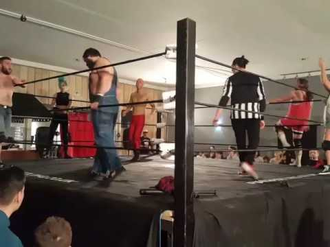 FALLING STARR WRESTLING, THE NLP VS JIMMY STARR AND THE INTERGALACTIC COWBOY KENNY MAC AND LAURA RAY