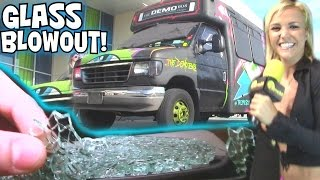 BASS EXPLODES WINDOW... 3ft From EXO's Face! EXTREME Sound SYSTEM w/ The DEMO BUS & 12 18