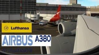 *** X PLANE 10 *** PilotsEYE AIRBUS A380 LUFTHANSA