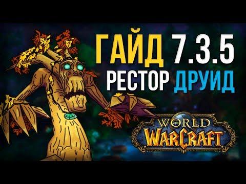 Гайд ПВЕ РДРУ 7.3.5 Легион  (Друид исцеление, рестор друид) world of warcraft legion wow 7.3.5