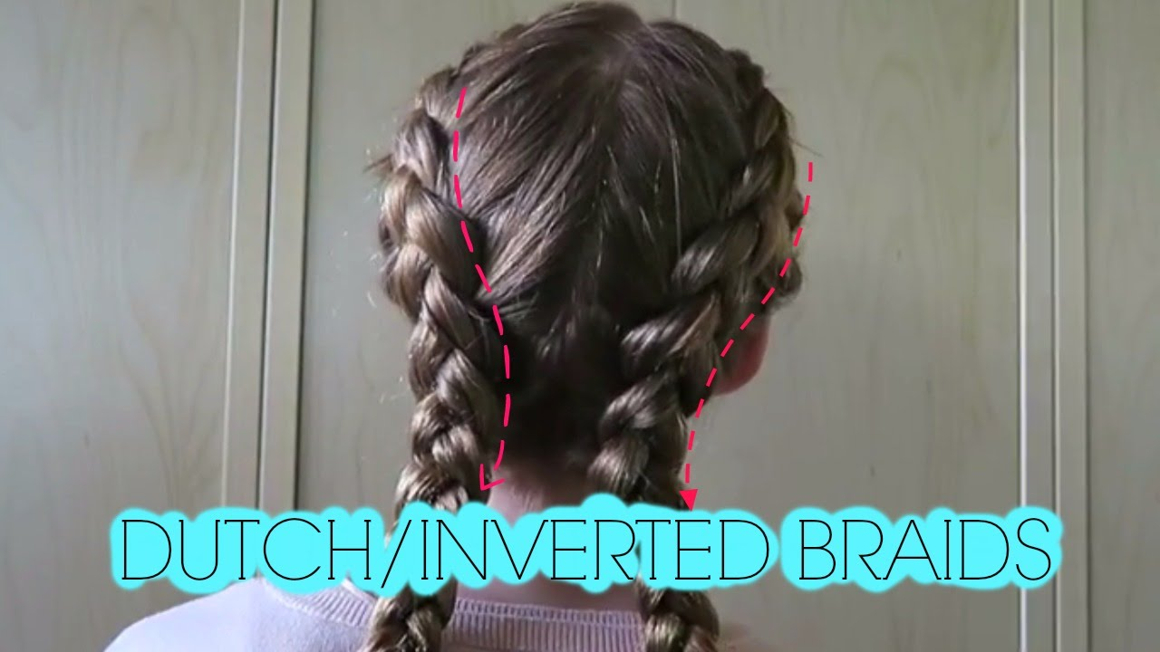 Inverted french braid pigtails youtube ccuart Choice Image