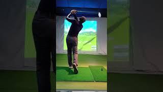 임팩트비젼 스윙분석기 50대중반 골프코치 5번아이언샷