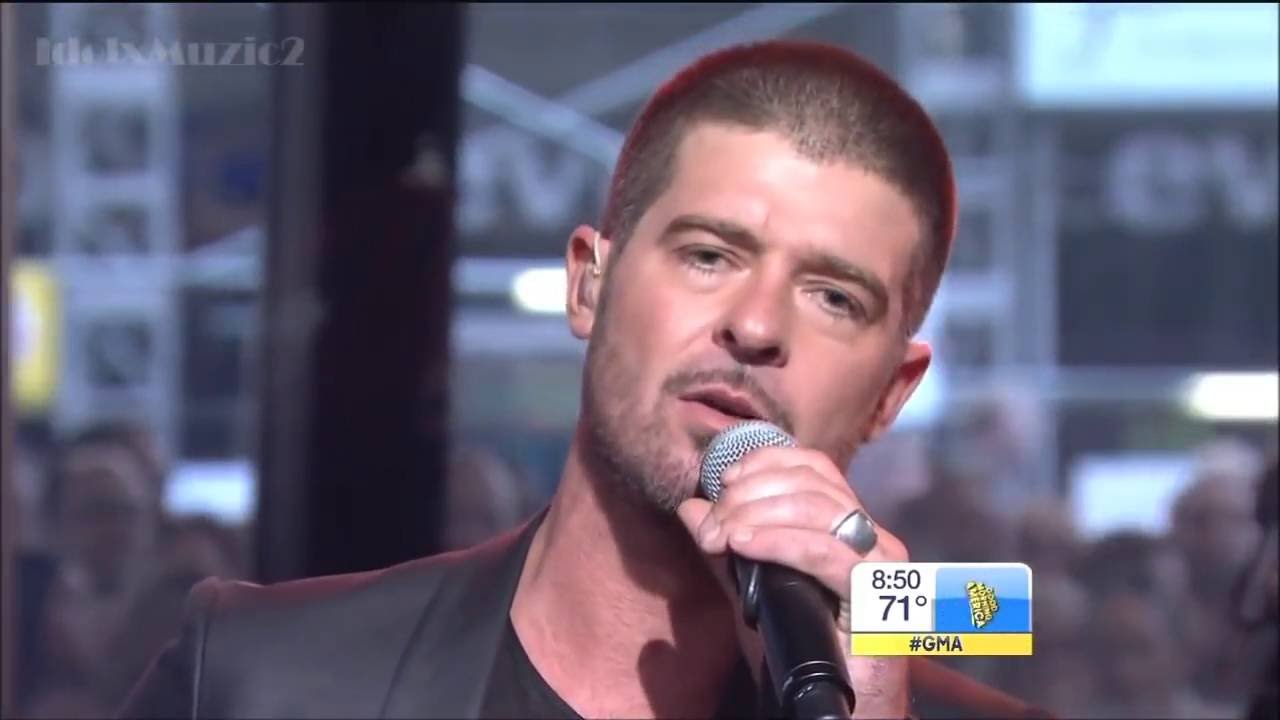 Good Morning America Watch Live : Robin thicke get her back good morning america live