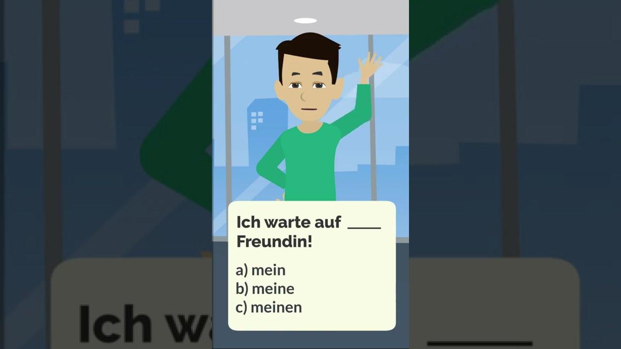 Was ist die Antwort? | Deutsch lernen mit Übungen #shorts
