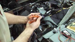подключение заднего дивана BMW E65 имитатор шины КАН