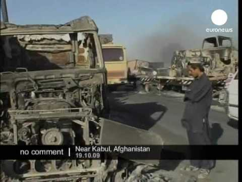 Afghanistan NATO trucks attacked