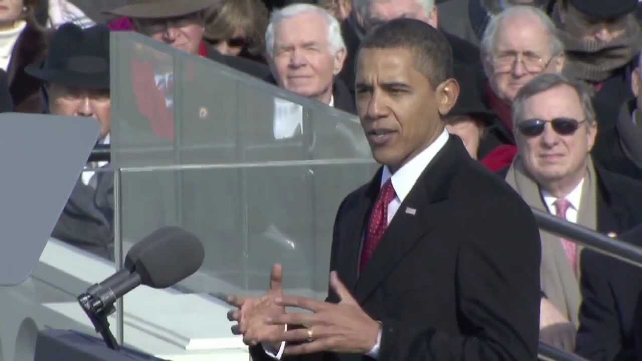 President barrack obama 39 s first inauguration and address for First president to be inaugurated on january 20