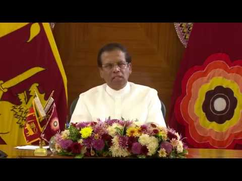 President Maithripala Sirisena's special address to the nati