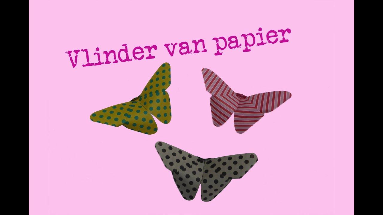 Vlinder vouwen van papier - Origami - makkelijke uitleg ... - photo#49