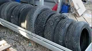 Тестовый запуск УТД-1 (установка пиролиза). Пиролиз шин, покрышек, пластика.