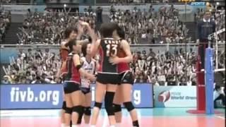 [HD] FIVB World Grand Prix 2009 - Japan vs Russia (set 4)