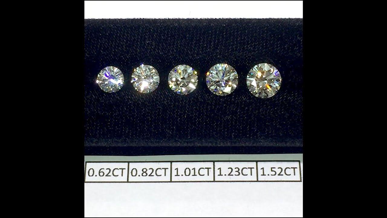 Round Cut Diamonds Size Comparison 0 60 0 80 1 00 1 20