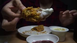 eating sound ppuringkle bhc chicken asmr 뿌링클 치킨