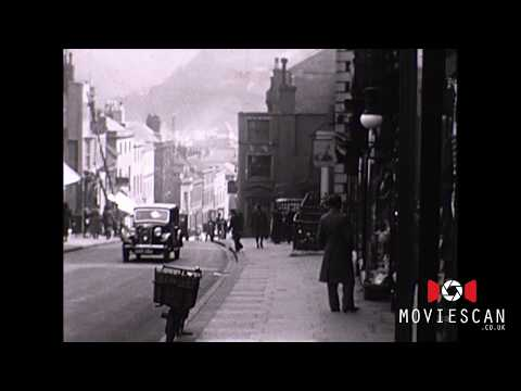 Lewes East Sussex old movie footage , vintage film from 1930s