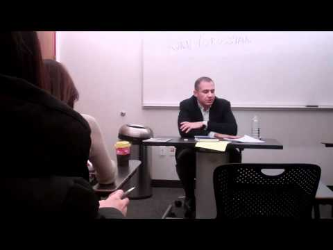 Ronn Torossian CEO of 5WPR Speaking at NYU on Public Relations 1 of 2