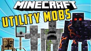 UTILITY MOBS: Golems Colosos, Torretas, Hornos Vivientes - Minecraft Mod 1.7.10