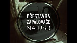 Mazda 323 -úprava zapalovače na USB-