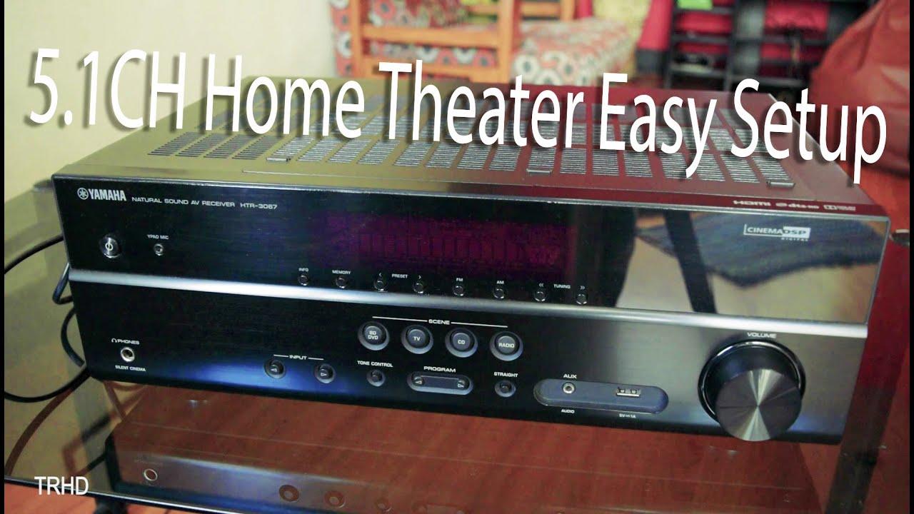 av receiver wiring diagram massey ferguson 35 how to setup home theater tv very easy youtube